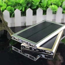 Gold 50000mAh Ultra Slim Solar Battery Charger Power Bank For Universal Phone