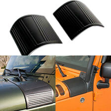 Pair ABS Hood Cowl Body Armor Side Cover For Jeep Wrangler JK & Unlimited 07-16