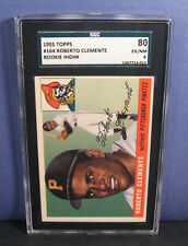 Roberto Clemente SGC 6/80 1955 Topps #164 RC Card (EX-NM) Pittsburgh Pirates