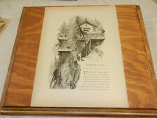 1874 Antique Print/MOUNTAIN HOUSE AT WATKINS GLEN STATE PARK/NY