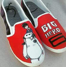 Womans size 8 shoes big hero 6 baymax and hiro disney hand painted custom