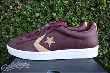CONVERSE PRO LEATHER 76 TUMBLED SZ 8 LOW TOP PL BURGUNDY BORDEAUX TAN 155665C