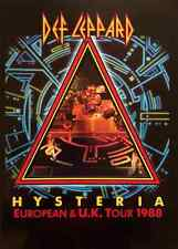DEF LEPPARD - HYSTERIA EUROPEAN & UK TOUR 1988 (PROGRAMME) (VG)