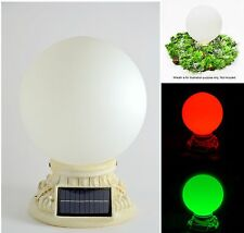 """Homebrite Solar Power 10"""" Glass Globe Light with Christmas Color Path Entry Post"""