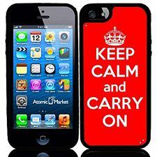 Red Keep Calm and Carry On For Iphone 6 Case Cover