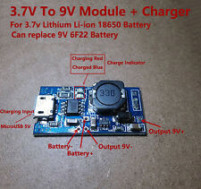 Micro USB Lithium Li-ion 18650 Battery Charger Boost Module 3.7V 4.2V to 9V 6F22