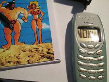 Nokia 3410 türkis-silber Simfrei Ladeteil  Heft D super o.k. gebraucht Art.152 X