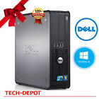 Dell Desktop PC Tower Computer Windows 10 Core 2 Duo 4GB RAM 250GB HD FAST