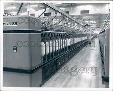 1969 Textile Machine at Bibbs Mill Columbus Georgia Press Photo