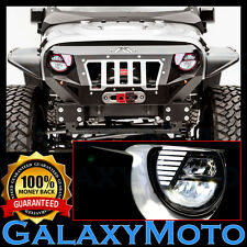07-16 Jeep JK Wrangler Angry Bird LED Red Headlight DRL+Hi+Lo Beam+Cree LEDs