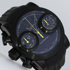 NEU GRAHAM SWORDFISH BOOSTER BLACK CHRONOGRAPH 48mm UHR Ref. 2SWBB