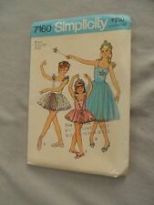 NEW VTG Simplicity ballerina costume dress sewing pattern #7160 girls' size 6