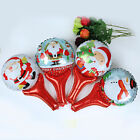 1 X Christmas Santa Claus Snowman Handheld Wand Shape Foil Balloons Party Decor