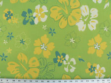 Drapery Upholstery Fabric Indoor/Outdoor Waterproof Tropical Floral - Lime