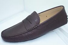 Tod's Men's Red Shoes Mocassin Size 9 Loafers Slip On Drivers Leathe NIB