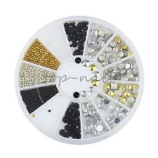 Top Nail 1 Wheel 3D Nail Art Metal Gold Charms Manicure Decorations ZP123