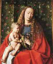 Metal Sign Eyck Jan Van The Madonna With Canon Van Der Paele Detail 2 A4 12x8 Al