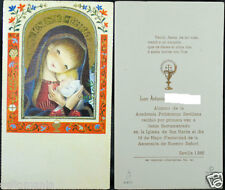 OLD FIRST COMMUNION REMEMBRANCE HOLY CARD YEAR 1966 ANDACHTSBILD SANTINI   C1028