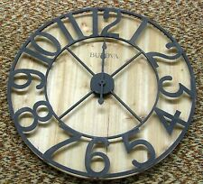 BULOVA  OVERSIZED WALL CLOCK - KNOTTY PINE VENEER FINISHED SILHOUETTE II C4814