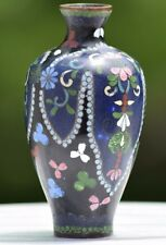 FINE CHINESE FAMILLE ROSE CLOISONNE HAND PAINTED MINIATURE MEIPING VASE BRONZE