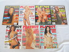 Playboy 2003  With Centerfolds lot of 7 issues Excellent Condition July - Dec +1