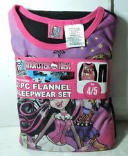 Newest New Girls MONSTER HIGH Flannel Pajamas 2 piece Sleep wear Set Size 4/5