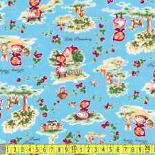 Lecien Fabric Little Red Riding Hood Retro Blue PER METRE 0