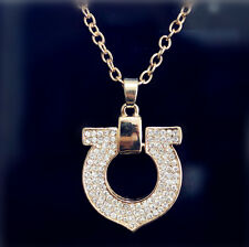 Fashion Heart Chain Pendant 18K Gold Plated Swarovski Crystal Necklace