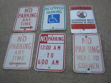 6 pc Used No Parking Handicap Warning Watch Neighborhood Aluminum Retired Signs