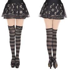 Sexy Striped Cat Tattoo Girl Women Hosiery Socks Pantyhose Stockings Tights Gift