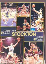 1990 Starline JOHN STOCKTON  Jazz Monster Poster MINI Promo Piece RARE