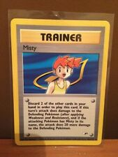 Misty Trainer Card (102/132) Gym Series Non Holo Pokemon Card. Mint Condition