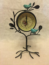 Antique Metal Bird Clock (Bird Sanctuary)
