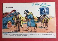 CPA. Illustrateur CHAGNY. 1927. La Pompe. Voiture. Ane. Panne. Humour.