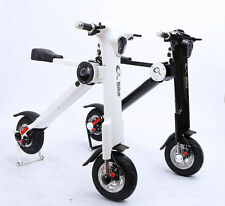 Q Bike Lightweight Foldable Electric Bicycle, Black eBike new!