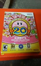 Wii KIRBY 20TH ANNIVERSARY KIRBY'S DREAM COLLECTION SPECIAL EDITION VIDEO GAME
