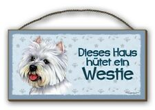 WESTIE - WEST HIGHLAND WHITE TERRIER- HOLZSCHILD MDF 25x12,5 cm 50 HUNDESCHILD