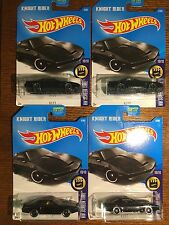 Lot of 4 HOT WHEELS KNIGHT RIDER KITT Movie Car Collection HW Screen Time
