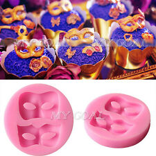 3D Mask Silicone Fondant Mould Cake Decor Chocolate Icing Baking Mold Sugarcraft