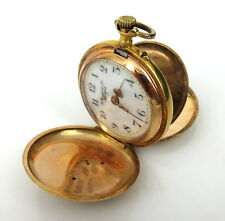 Art Nouveau A Frankfield & Co New York Diamond & 14K Gold Pocket Watch