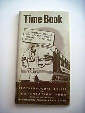 """1965 Rail Road """"Time Book"""" Brotherhood's Relief & Compensation Fund *"""