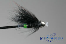 ICE FLIES. Green Butt micro tube fly. Cone head. 3 - pack.