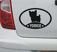 I love my Yorkie vinyl decal sticker - yorkshire terrier, car window - DEC1105