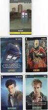 Doctor Who the Card Game 2009 c7e - 5 Art Cards: Peckham, Sycorax, Rory etc