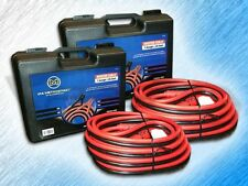 HEAVY DUTY 1 GAUGE 25 FOOT BOOSTER/JUMPER BATTERY CABLES W/ CASE - PACKAGE OF 2
