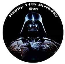"Star Wars Darth Vader 7.5"" Cake Topper Personalised  Edible Wafer Paper"