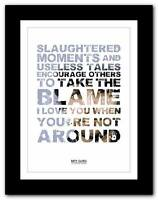 ❤ BIFFY CLYRO Glitter ❤ song words typography poster art  print - A1 A2 A3 or A4