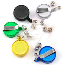 Recoil Key Ring Retractable Pull Chain with Belt Clip ID Holder Badge Reel Strap