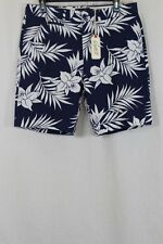 MENS GRAYERS NAVY WHITE FLORAL 100% COTTON CASUAL SHORTS SIZE 33 NEW W TAGS $88