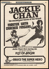 MASTER WITH CRACKED FINGERS__Original 1980 Trade Print AD / poster__JACKIE CHAN